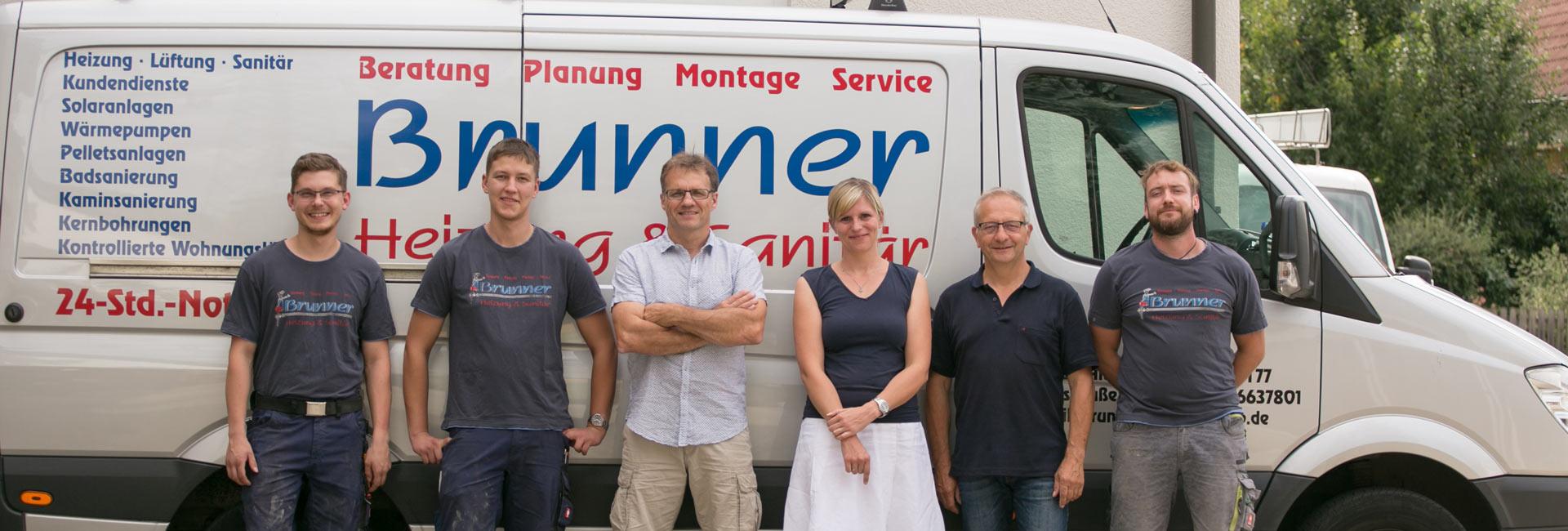Unser Team von Brunner Heizung & Sanitär