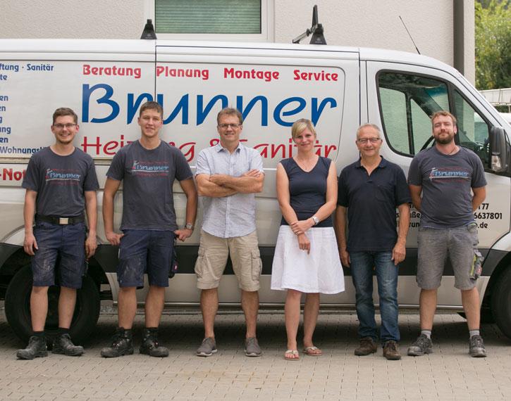 Team von Brunner Heizung und Sanitär bei Landshut